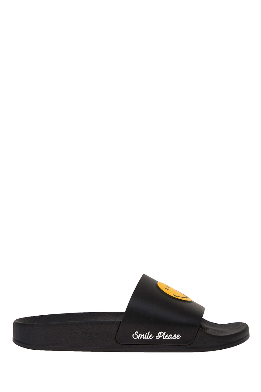 Joshua Sanders Черные сандалии со смайлами joshua sanders слипоны с вышивкой крестиком
