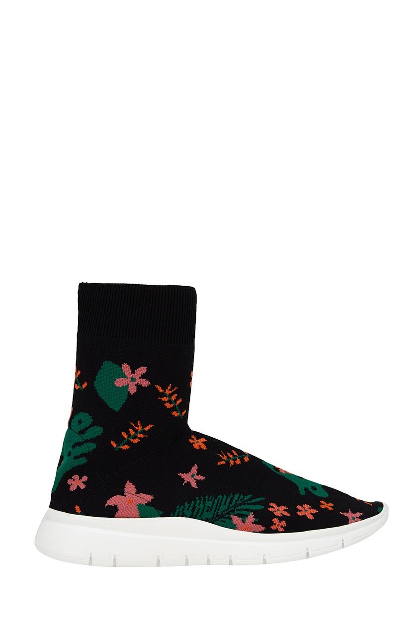 Joshua Sanders Текстильные кроссовки с цветами