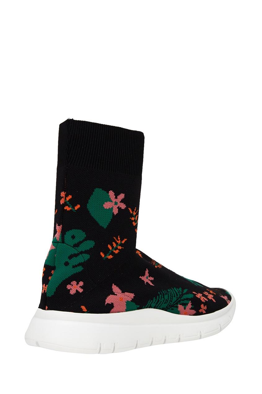 Фото 3 - Текстильные кроссовки с цветами от Joshua Sanders черного цвета