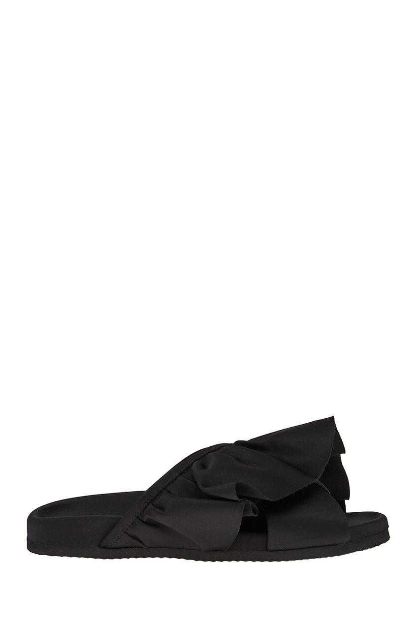 Joshua Sanders Черные сандалии с воланами