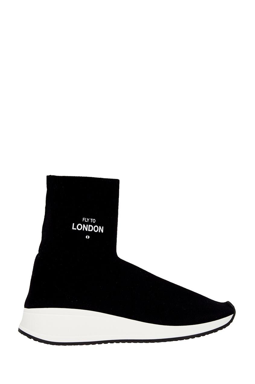 Joshua Sanders Черные текстильные кроссовки joshua sanders слипоны с вышивкой крестиком