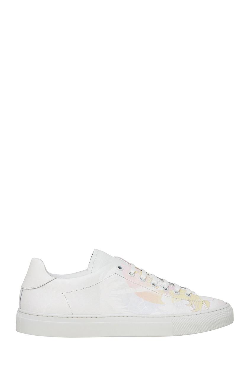Joshua Sanders Белые кожаные кеды с принтом joshua sanders кожаные ботинки