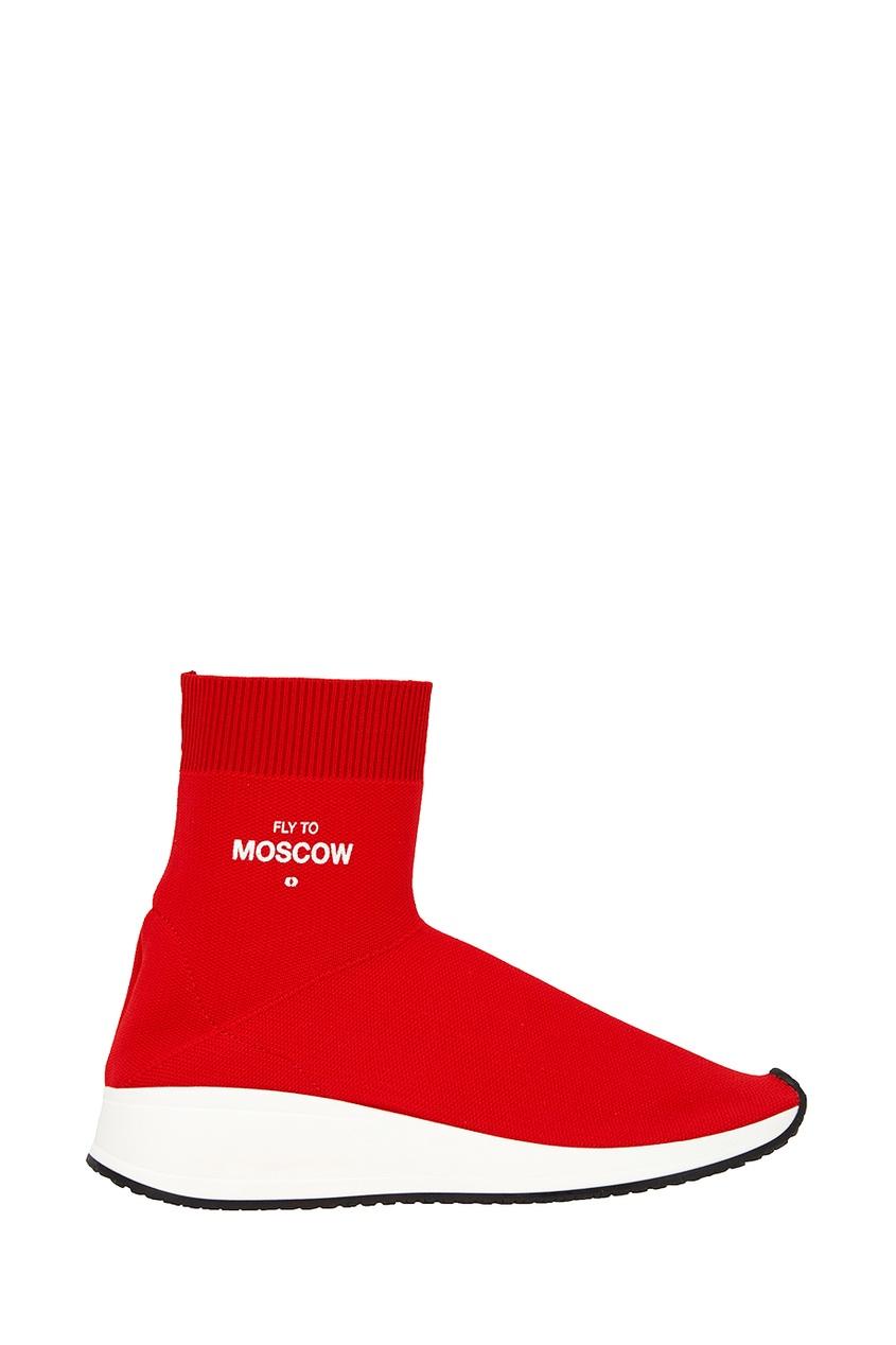 Joshua Sanders Красные текстильные кроссовки цены онлайн