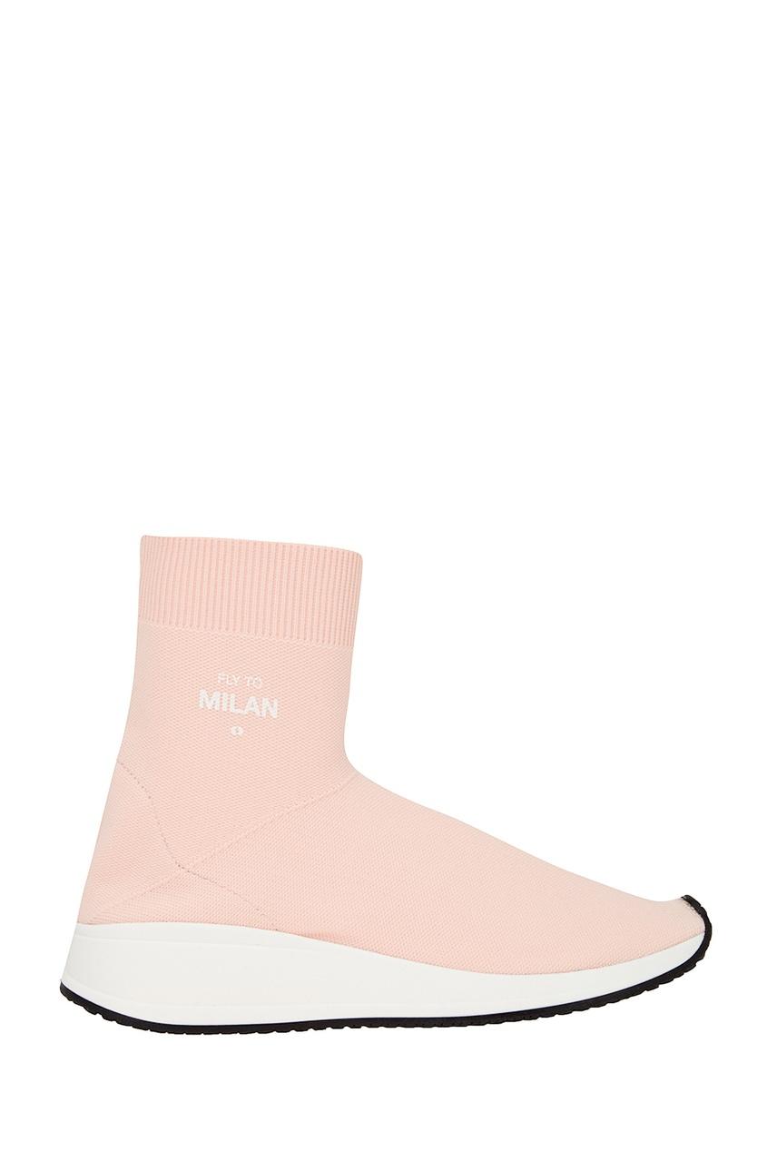 Joshua Sanders Розовые текстильные кроссовки