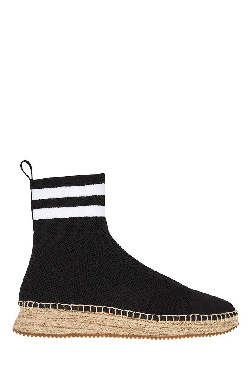 Alexander Wang Черные текстильные ботинки