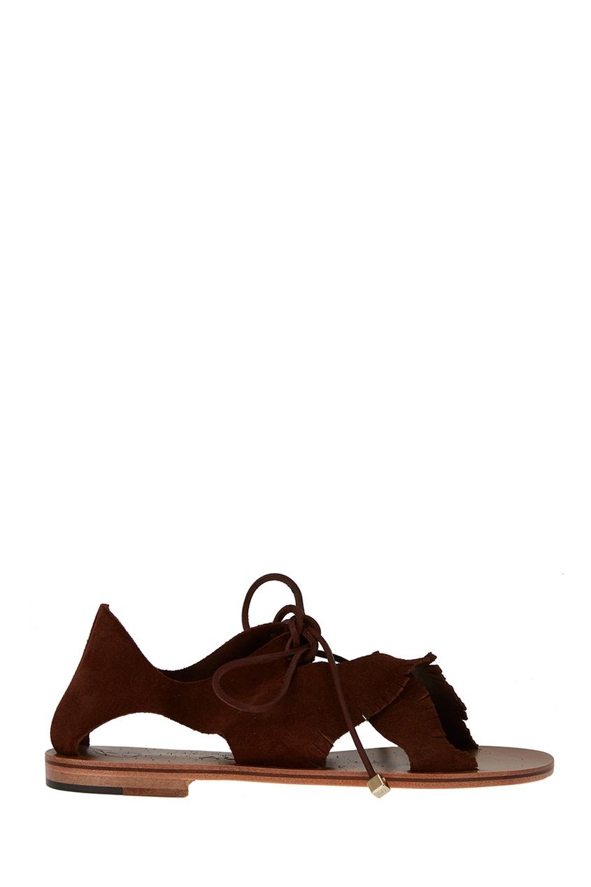 Alvaro Коричневые сандалии из замши