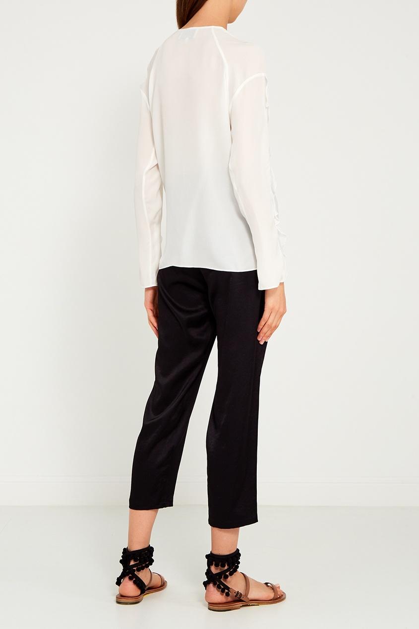 Черные брюки со сборками