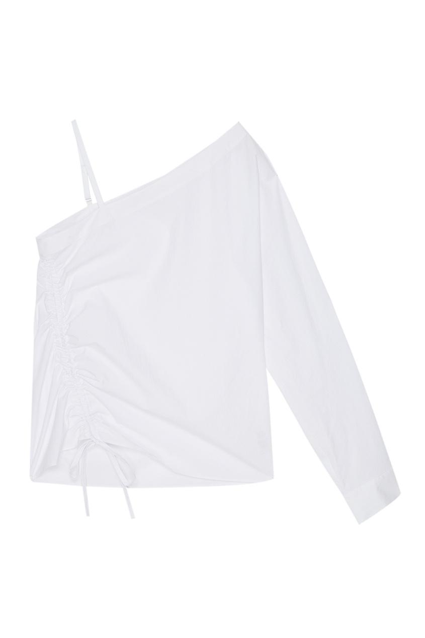 T by Alexander Wang Белая блузка из хлопка t by alexander wang легинсы