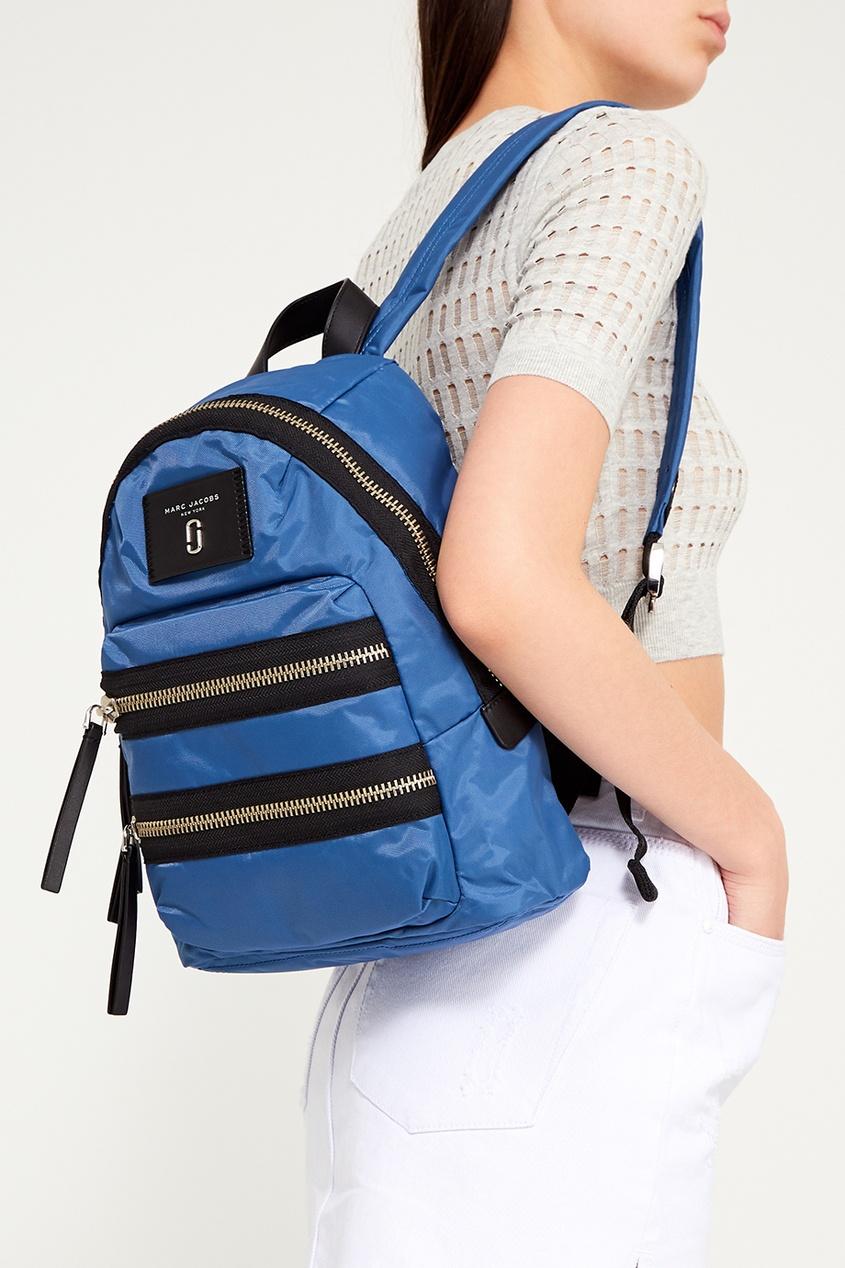 цена Marc Jacobs Синий текстильный рюкзак онлайн в 2017 году