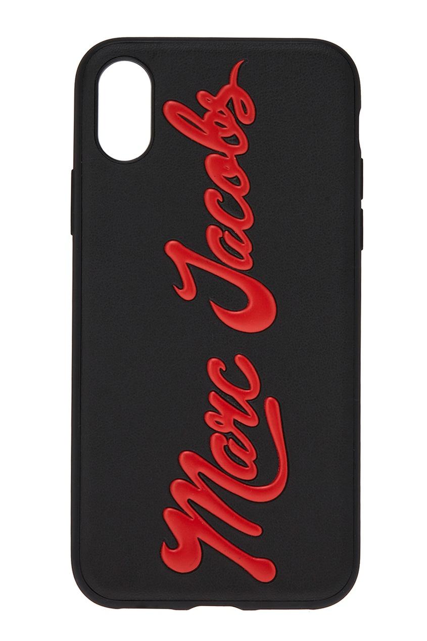 Marc Jacobs Черный чехол для iPhone X с логотипом чехол для iphone interstep для iphone x soft t metal adv красный