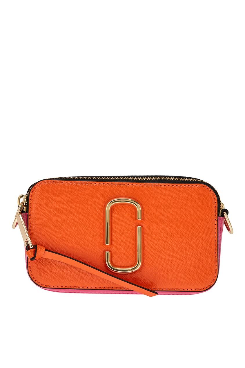 Marc Jacobs Оранжевая сумка из кожи Snapshot сумка спортивная everhill черно оранжевая 50л