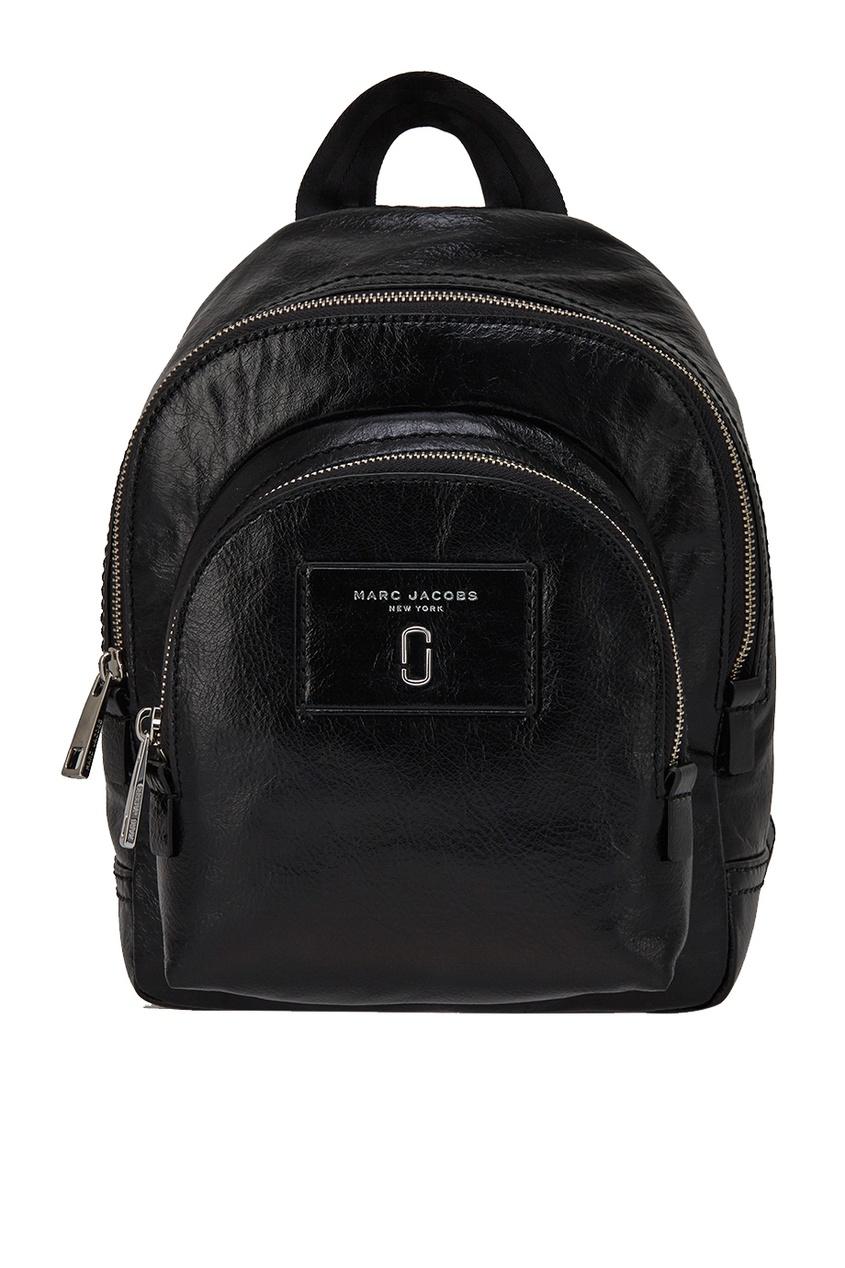Marc Jacobs Черный кожаный рюкзак кожаный рюкзак