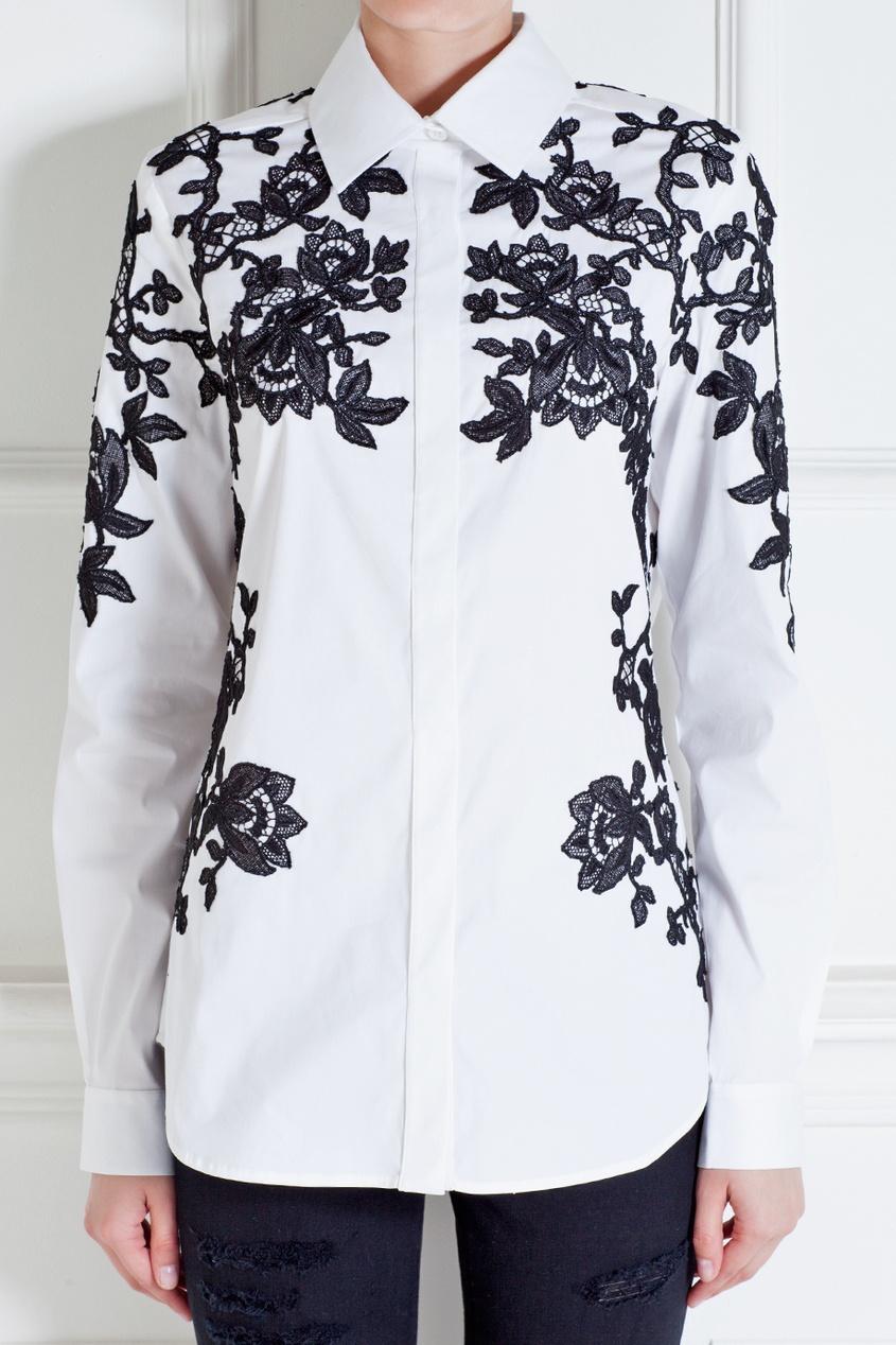Oscar de la Renta Рубашка из хлопка и нейлона
