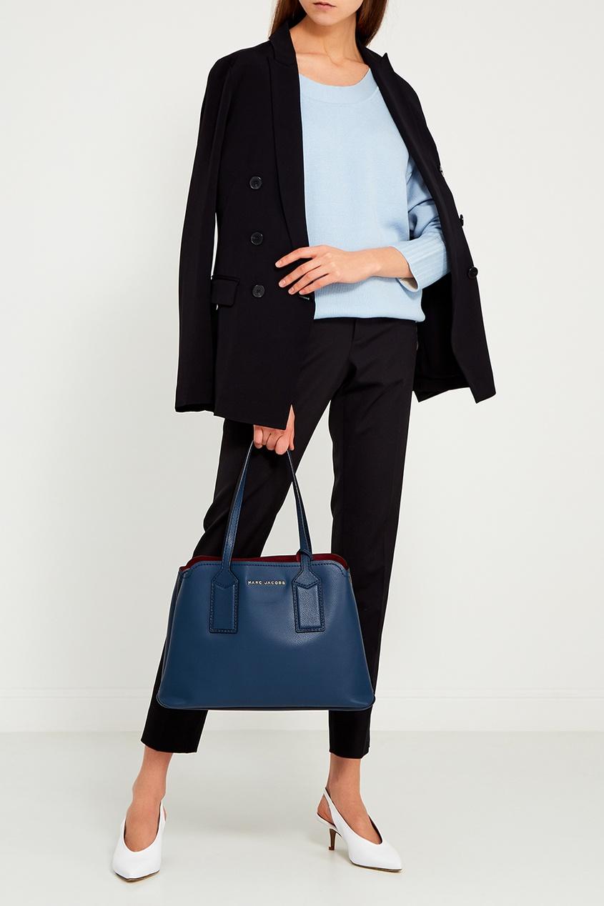 Marc Jacobs Синяя кожаная сумка The Editor Tote marc jacobs синяя стеганая косметичка