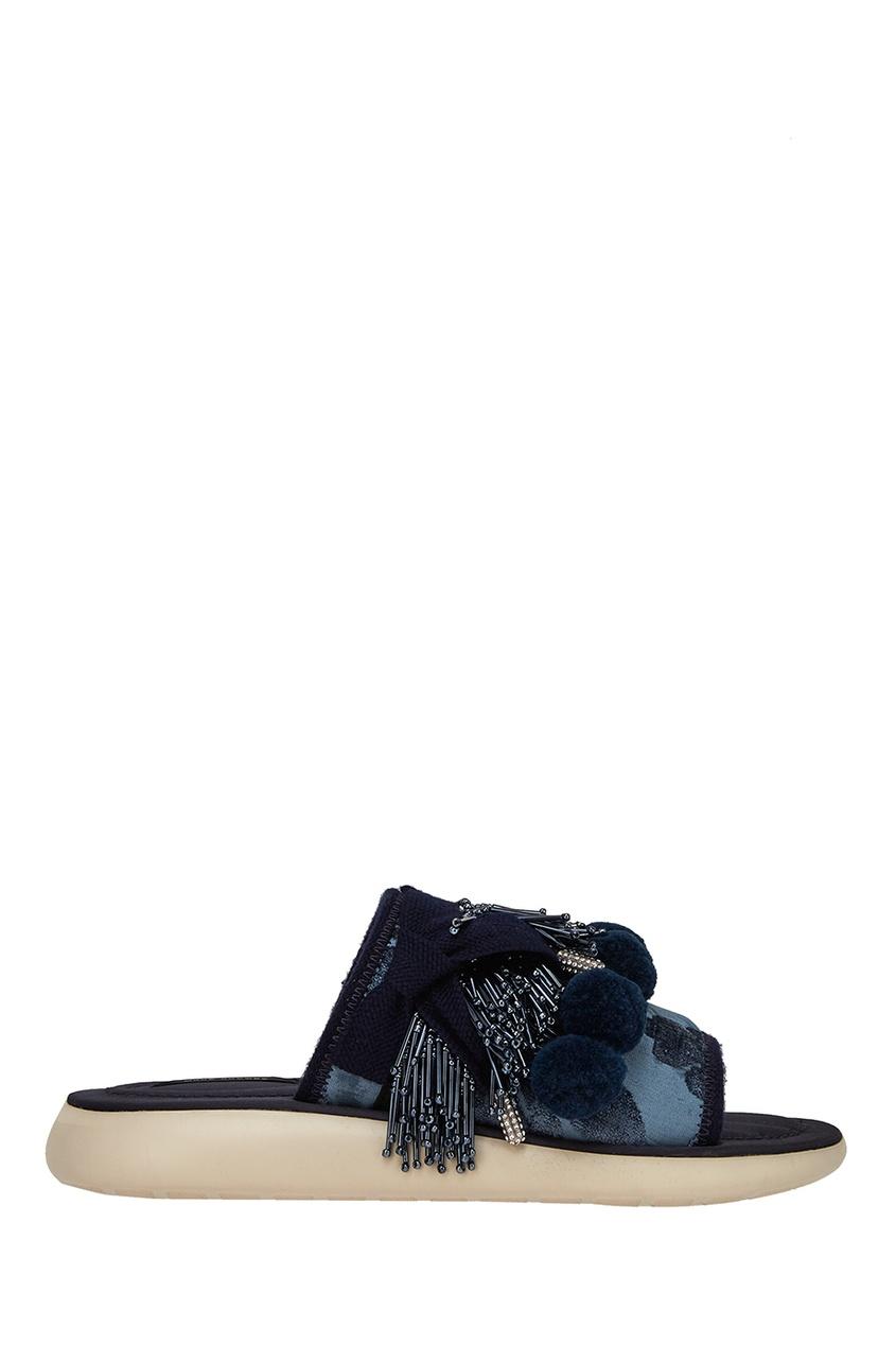 Marc Jacobs Сандалии с помпонами и бисером ботинки блестящие с помпонами 19 24