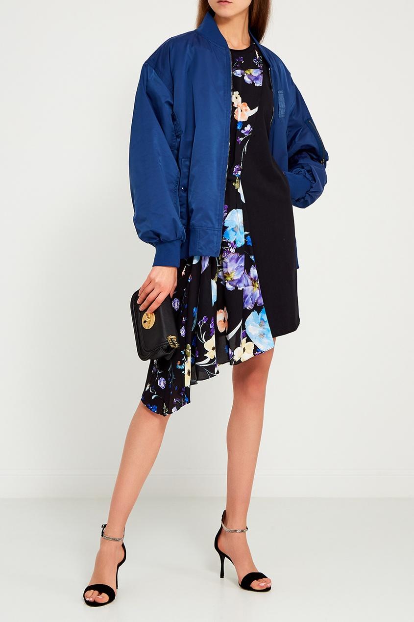 Marc Jacobs Синяя куртка-бомбер marc jacobs синяя стеганая косметичка