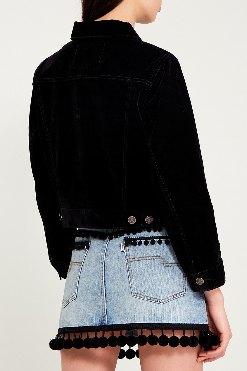 Marc Jacobs Черная вельветовая куртка