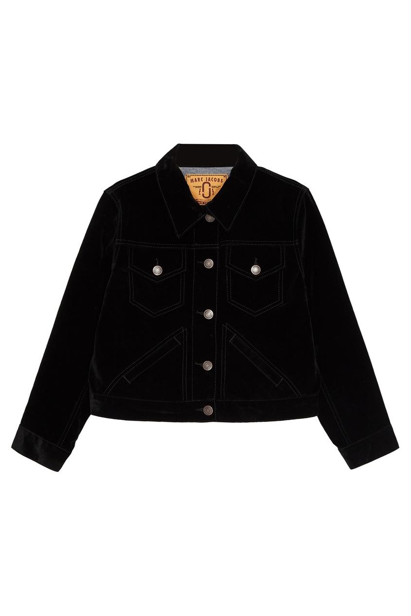 Черная вельветовая куртка