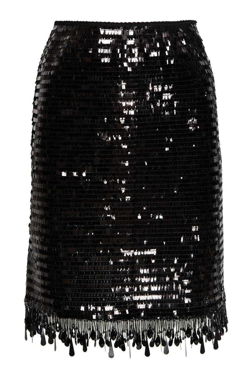 Marc Jacobs Черная юбка с пайетками