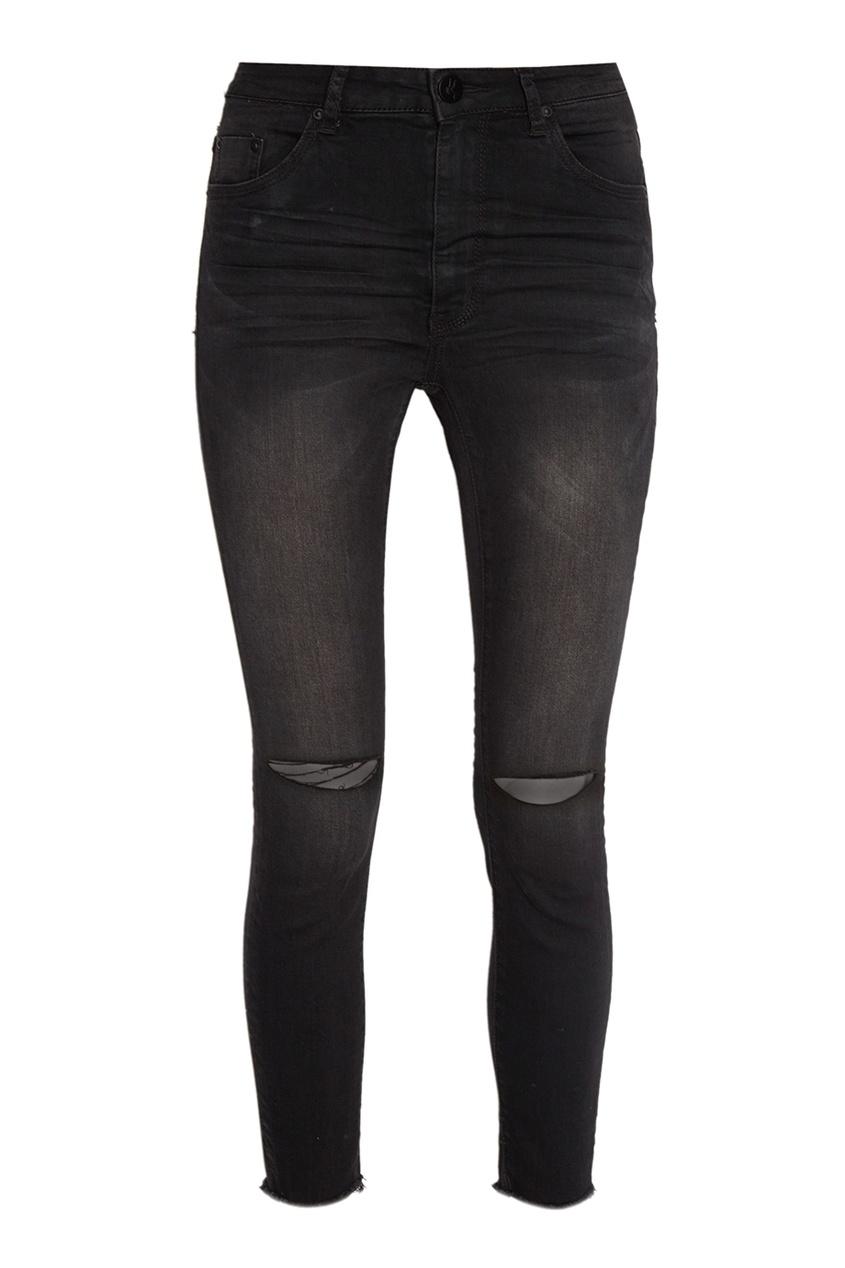 One Teaspoon Черные джинсы с прорезями на коленях