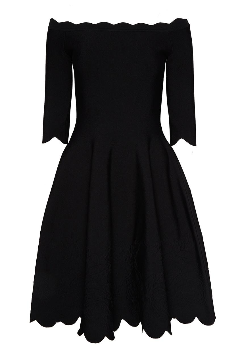 Alexander McQueen Приталенное мини-платье