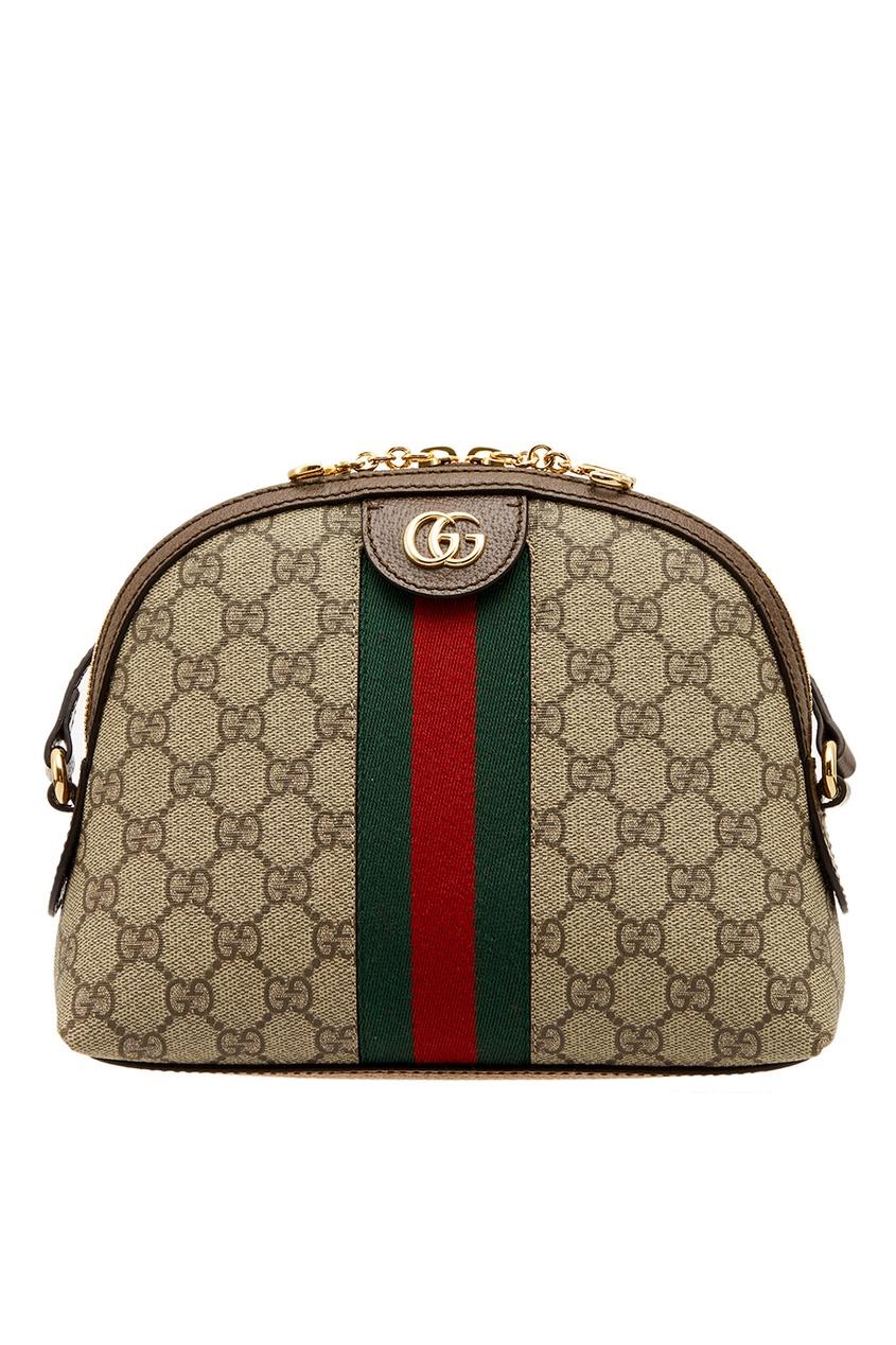 Купить Бежевая сумка с лентой Ophidia от Gucci бежевого цвета