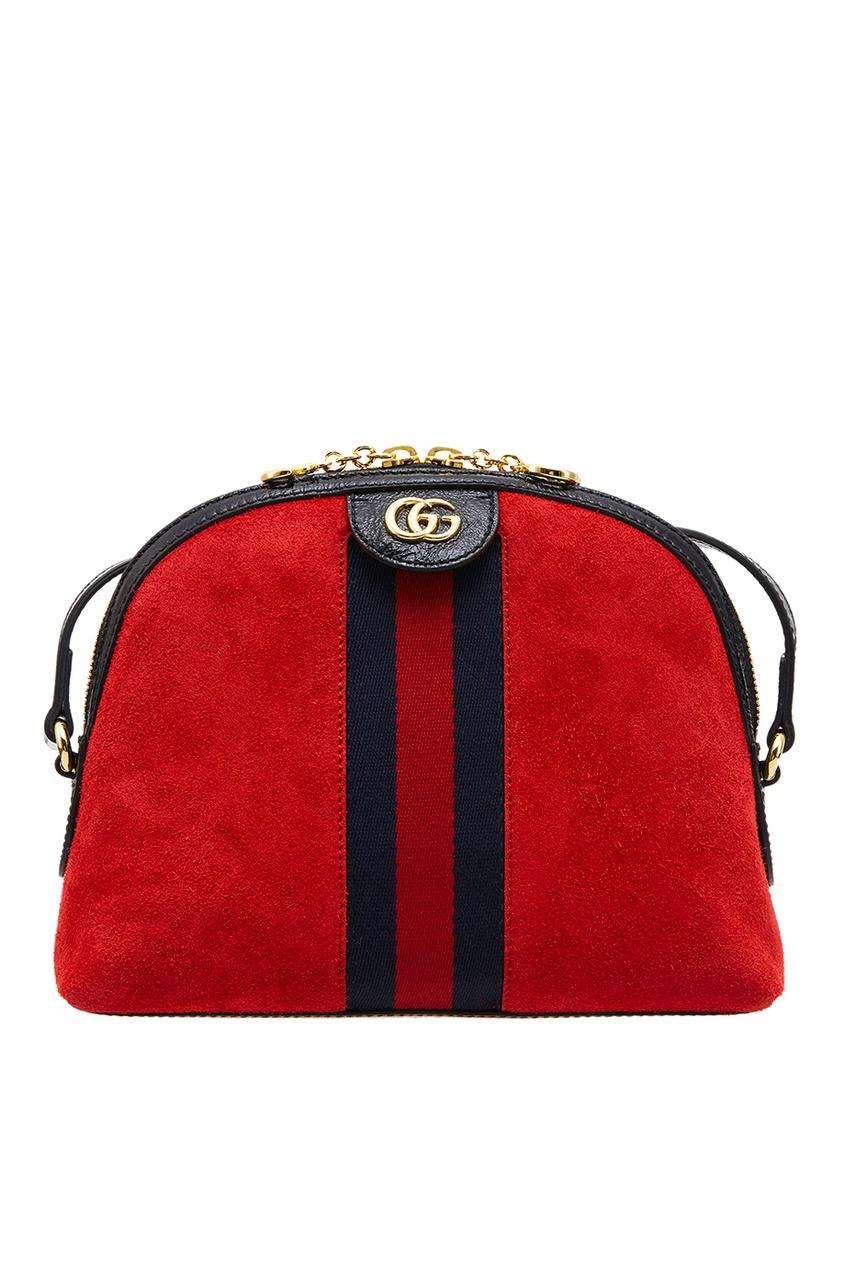 Gucci Красная замшевая сумка Ophidia сумка gucci