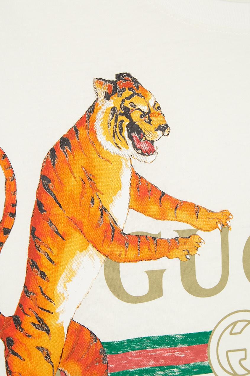 Gucci Хлопковая футболка с тиграми