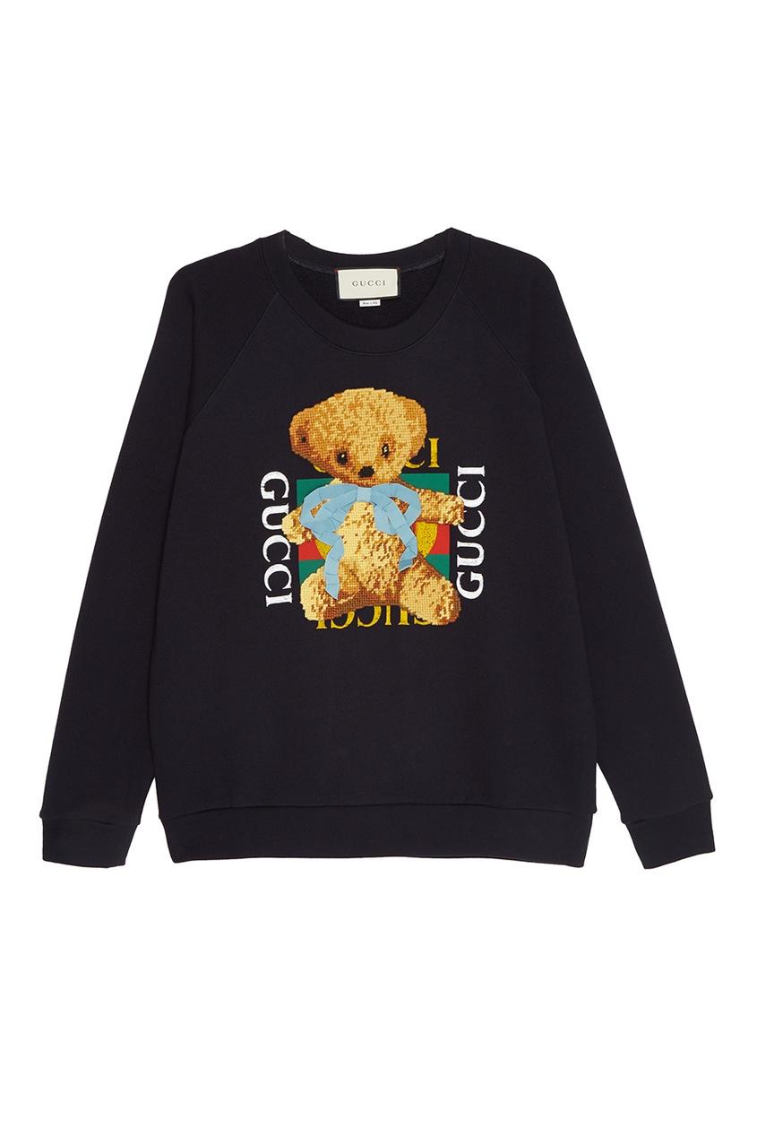 Хлопковый свитшот с принтом от Gucci