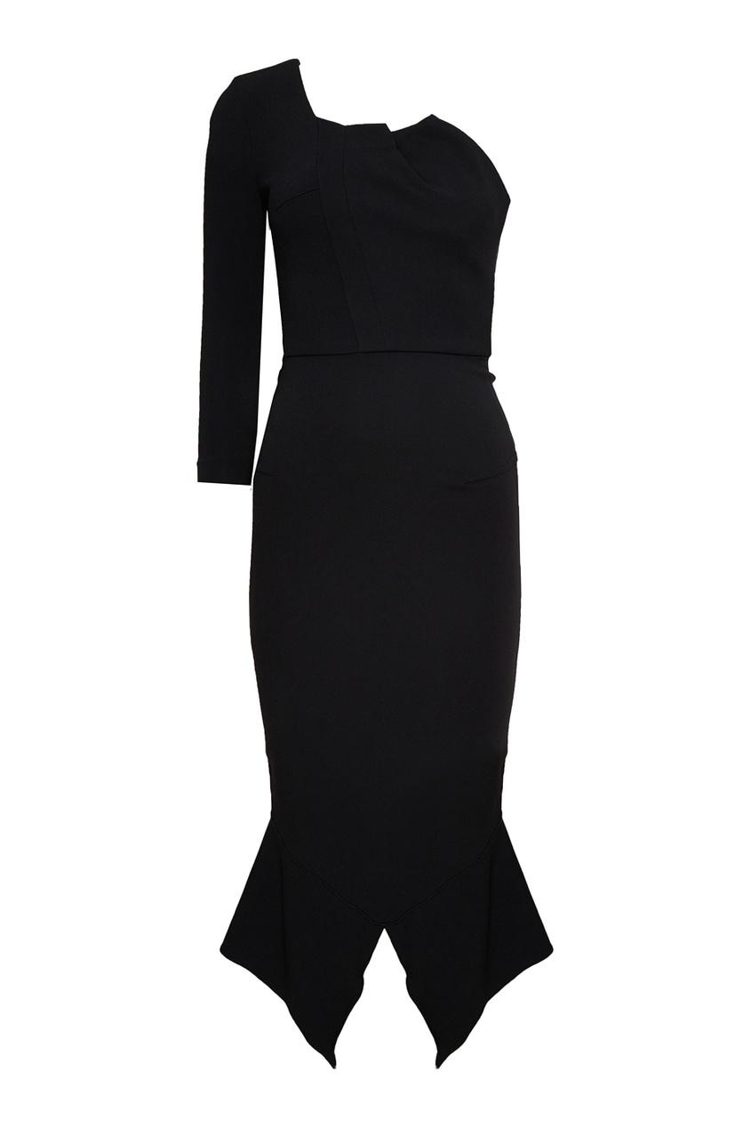 Roland Mouret Черное асимметричное платье roland m cube gxr