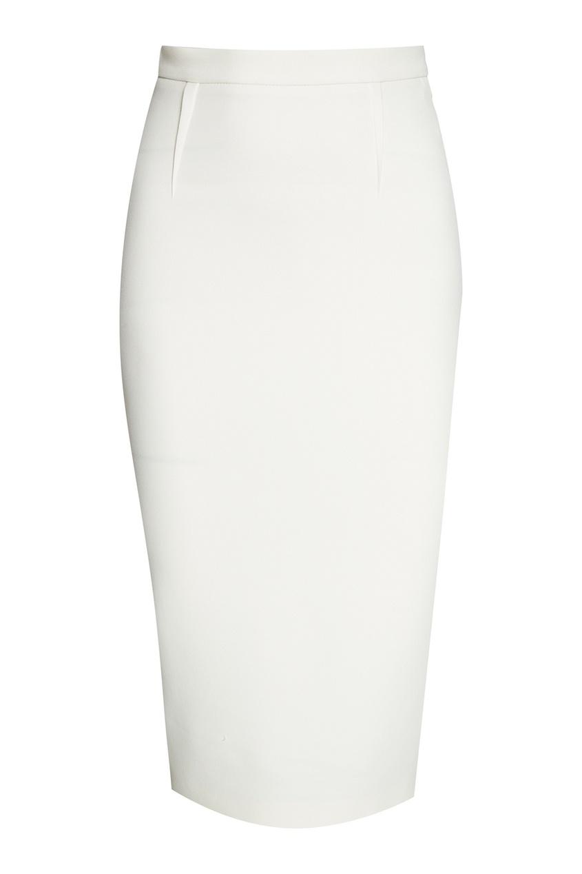 Roland Mouret Белая юбка-карандаш