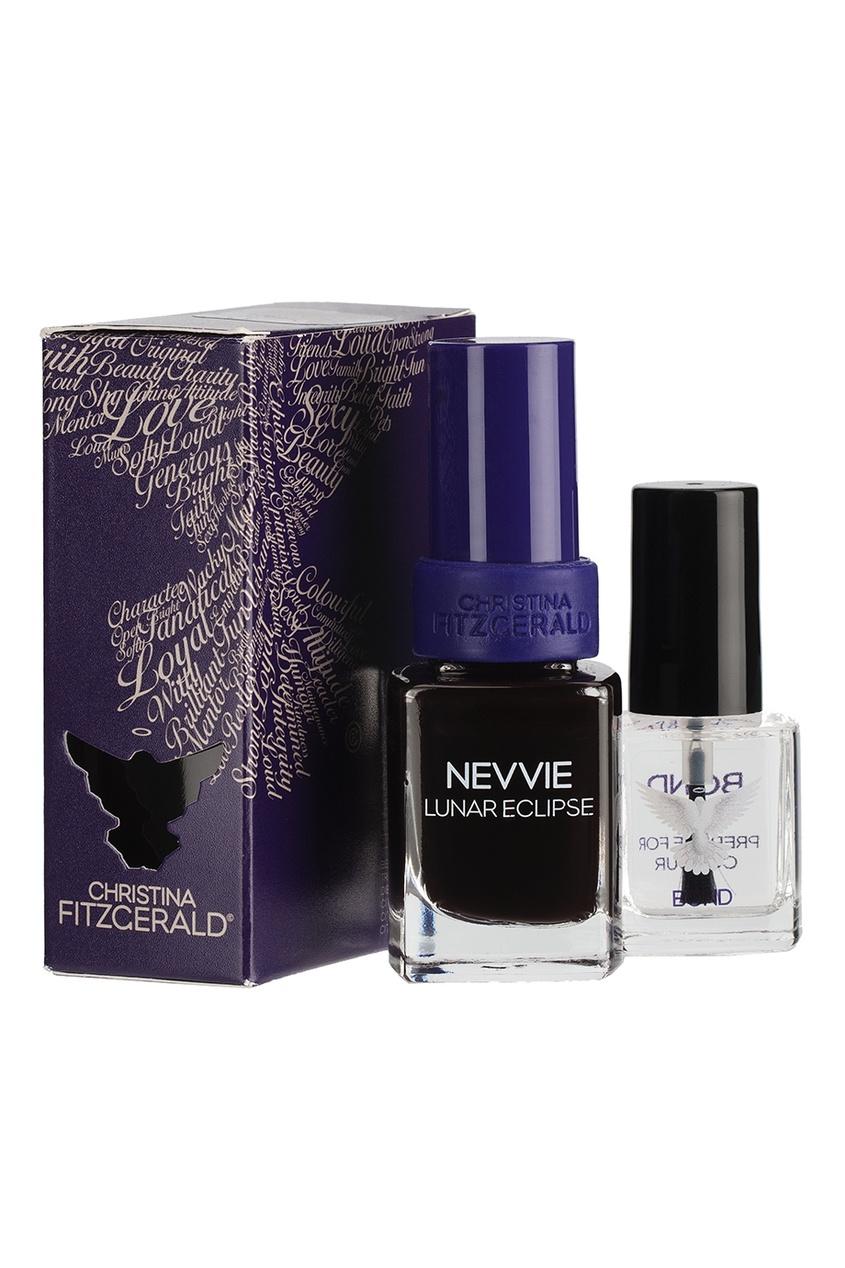 Лак для ногтей Nevvie / Лунное затмение + Bond-подготовка, 9 ml