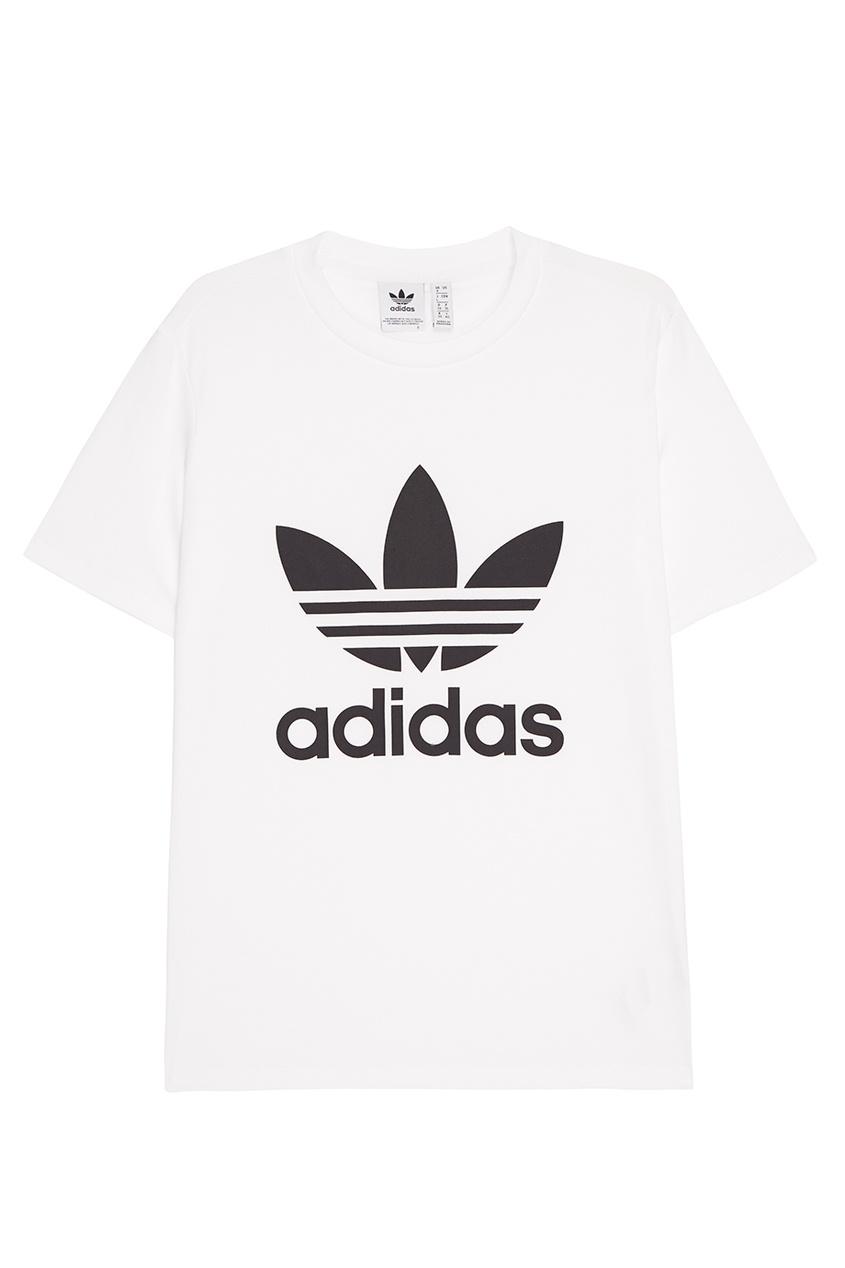 Adidas Белая футболка с контрастным логотипом футболка белая с принтом ido ут 00004169