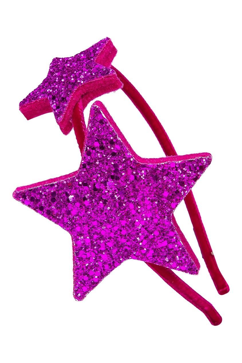 Ободок с розовыми звездами