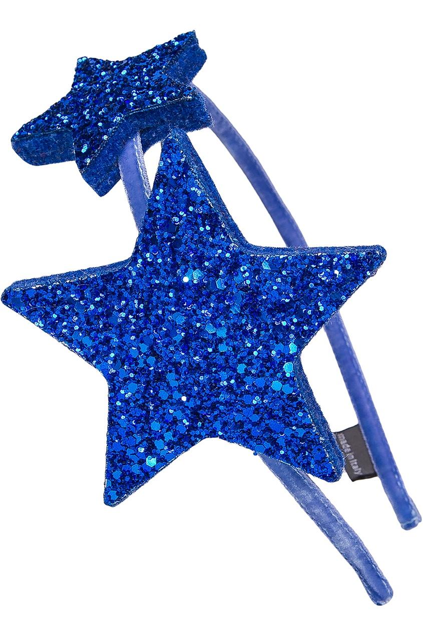 Ободок с синими звездами