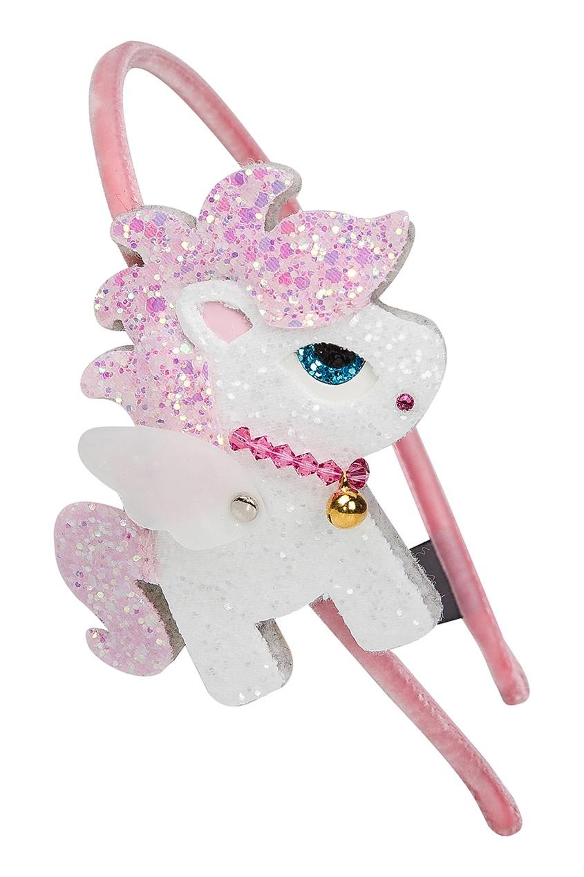 Розовый ободок с пони