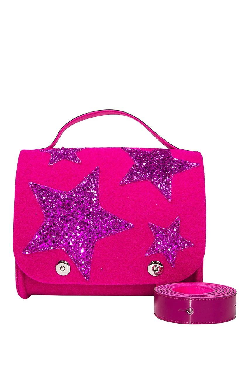 Розовая сумка со звездами