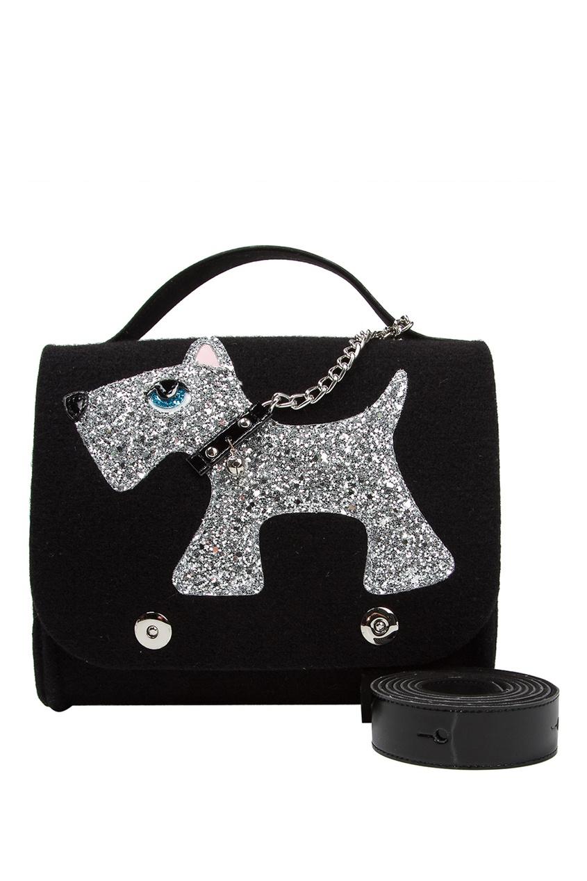 RO'RO Черная сумка с собачкой декоративное кашпо сумка с собачкой