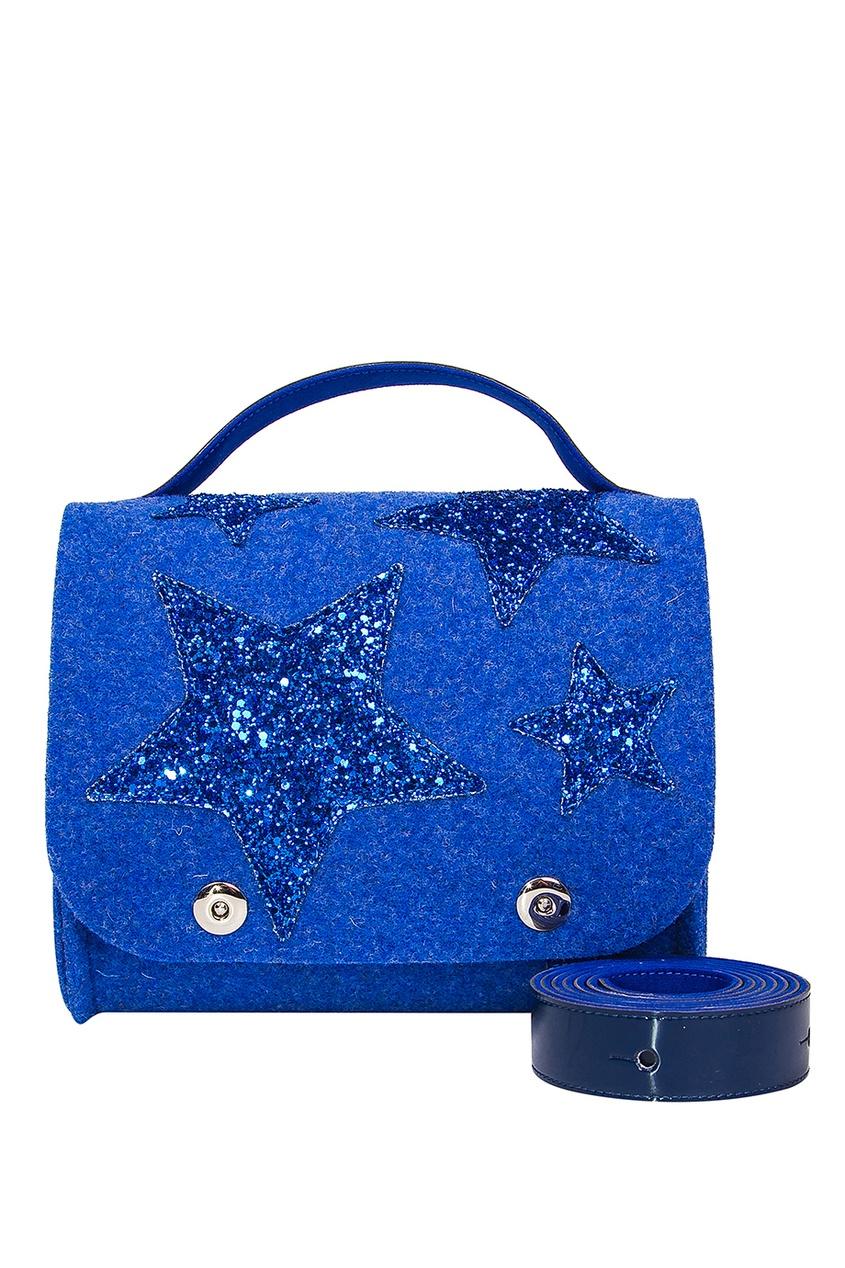 Синяя сумка со звездами RO'RO