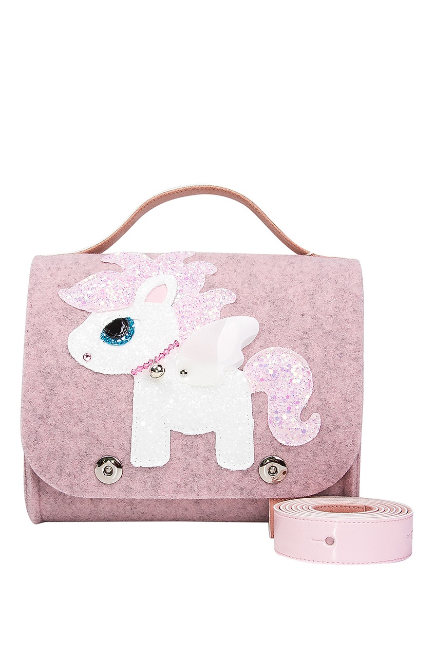 Светло-розовая сумка с пони