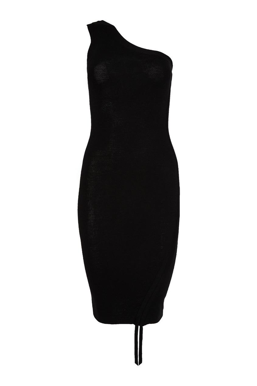 Шерстяное асимметричное платье