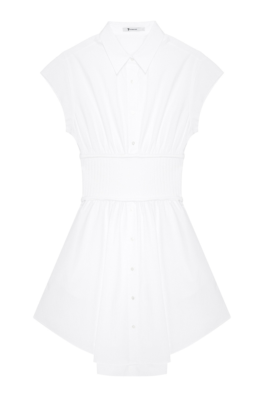 T by Alexander Wang Белое платье-рубашка