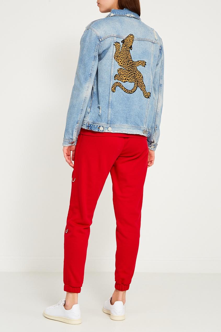 Zoe Karssen Джинсовая куртка с потертостями рубашка джинсовая zoe karssen zoe karssen zo006ewxcb58