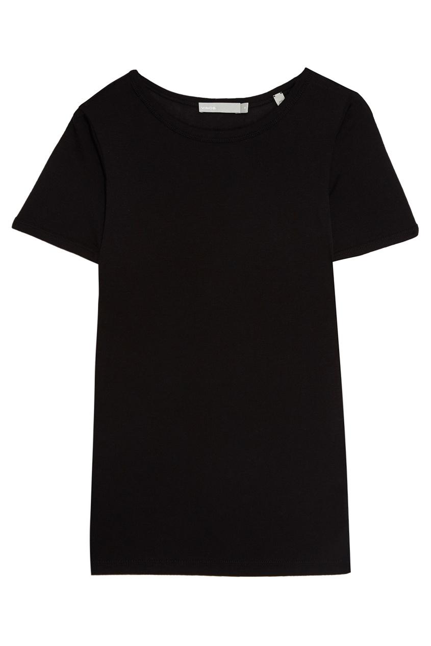 Vince Черная футболка из хлопка vince пиджак