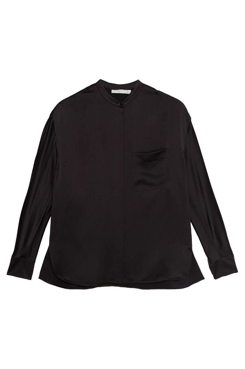 Vince Черная шелковая блузка