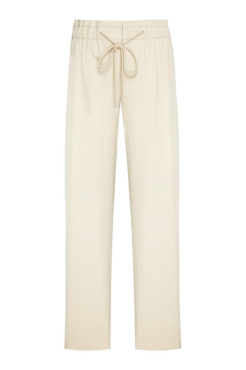 Vince Широкие брюки бежевого цвета elizabeth and james широкие брюки
