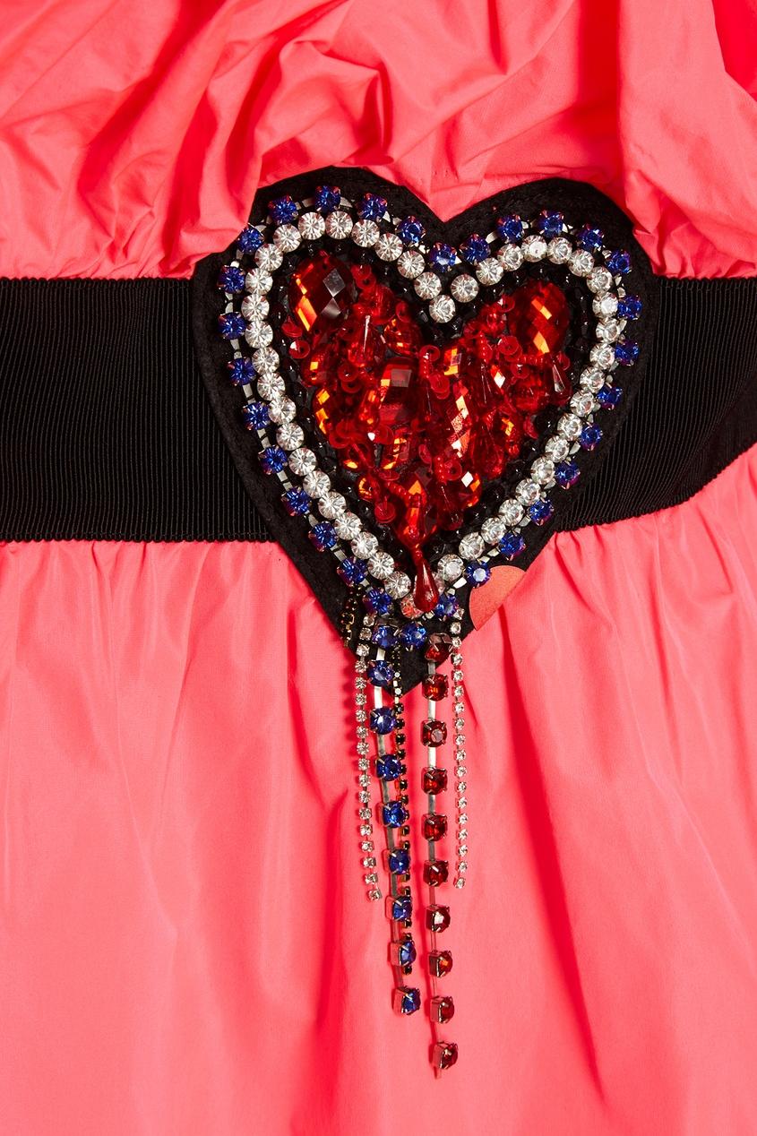 Розовое платье-мини