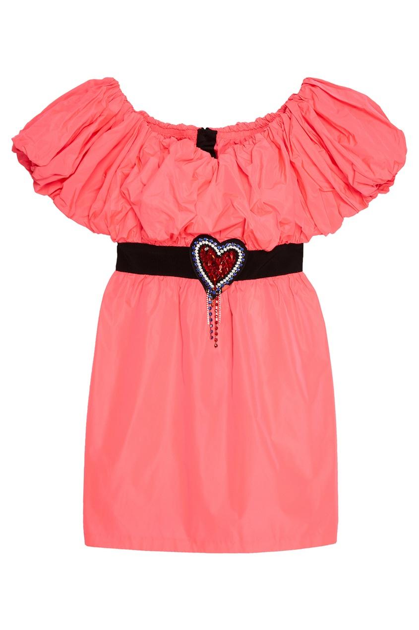 где купить MSGM Розовое платье-мини по лучшей цене