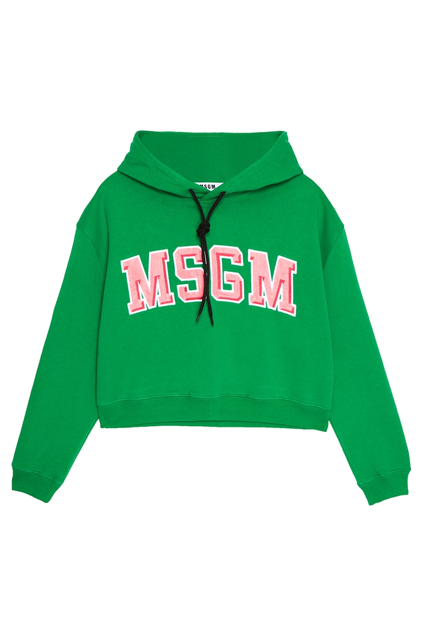 MSGM Хлопковое худи с логотипом худи