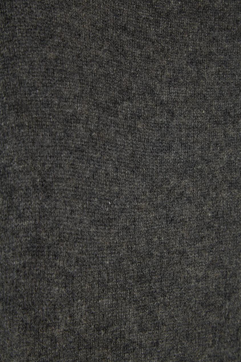 Tegin Кашемировый темно-серый джемпер tegin юбка с люрексом